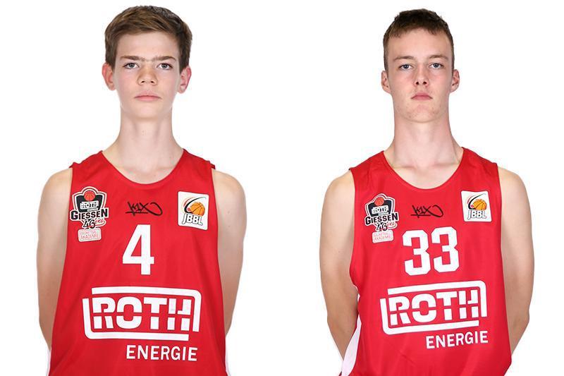 Till Heyne und Christian Mann vertreten die ROTH Energie BBA GIESSEN 46ers beim Bundesjugendlager 2020